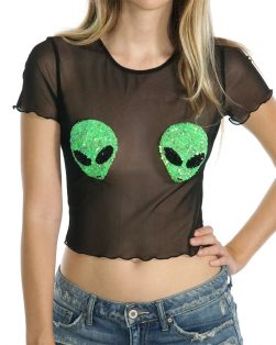 alien mesh rave top