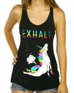 funny unicorn tank top yoga tank top