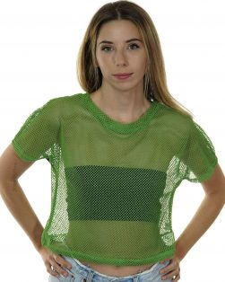 Fishnet Rave shirt green