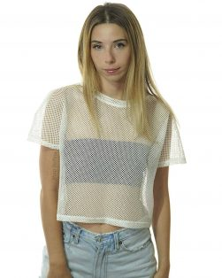 Fishnet Rave shirt white