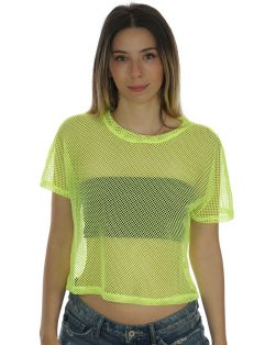 womens neon fishnet shirt