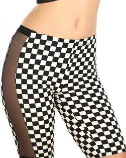 Checkered Bike Shorts