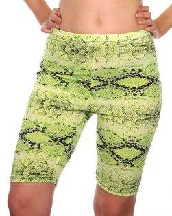 neon lime snake print bottoms
