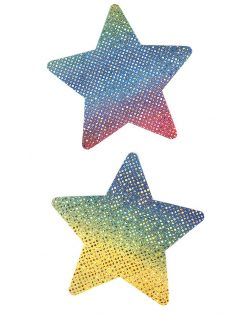 rainbow star nipple covers