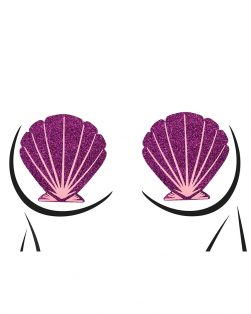 purple seashell rave pasties