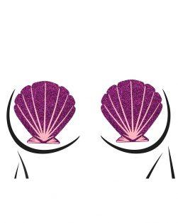 purple seashell rave pasties