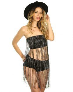 rhinestone glitter festival outfit