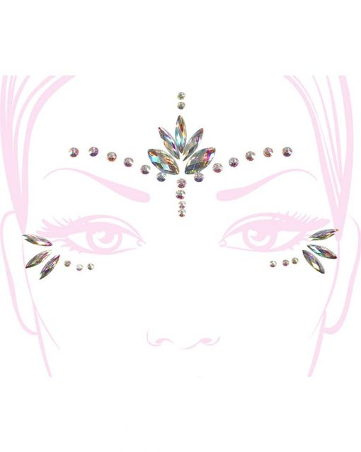 festival rave face pasties jewels